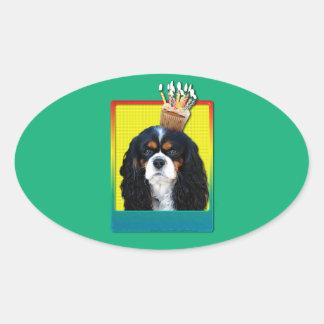 Birthday Cupcake - Cavalier - Tri-Color Sticker