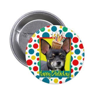 Birthday Cupcake - Chihuahua - Isabella 6 Cm Round Badge
