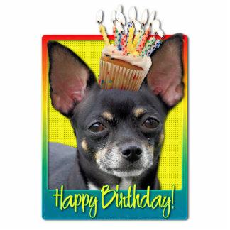 Birthday Cupcake - Chihuahua - Isabella Standing Photo Sculpture