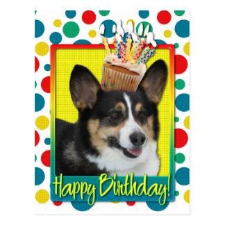 Birthday Cupcake - Corgi Postcard