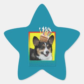 Birthday Cupcake - Corgi Star Stickers