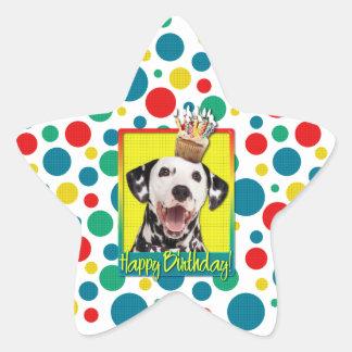 Birthday Cupcake - Dalmatian Star Sticker
