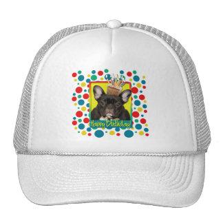 Birthday Cupcake - French Bulldog - Teal Trucker Hat