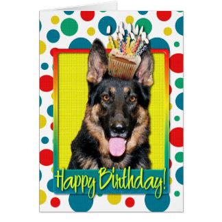 Birthday Cupcake - German Shepherd - Kuno Greeting Card