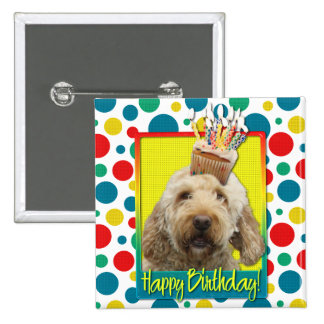 Birthday Cupcake - GoldenDoodle Buttons