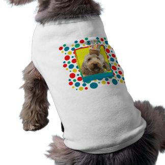 Birthday Cupcake - GoldenDoodle Sleeveless Dog Shirt