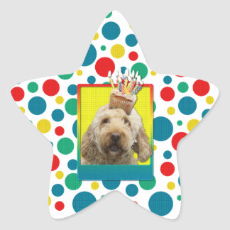 Birthday Cupcake - GoldenDoodle Stickers