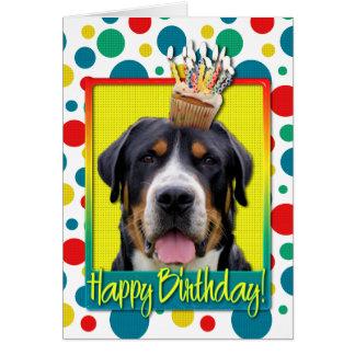 Birthday Cupcake - Greater Swiss Mountain Dog Card