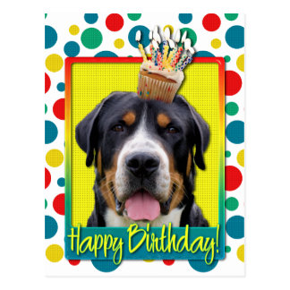 Birthday Cupcake - Greater Swiss Mountain Dog Postcards