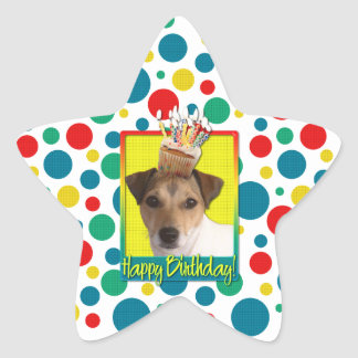 Birthday Cupcake - Jack Russell Sticker