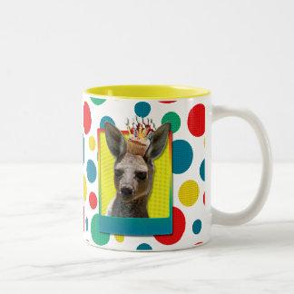 Birthday Cupcake - Kangaroo Two-Tone Mug