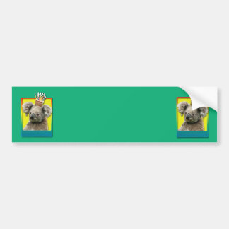 Birthday Cupcake - Koala Bumper Sticker