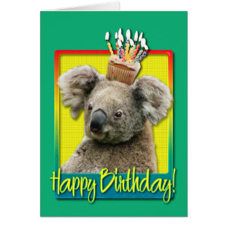 Birthday Cupcake - Koala Card