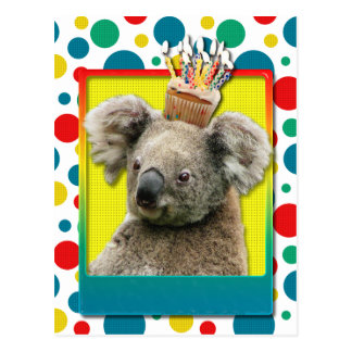 Birthday Cupcake - Koala Postcard