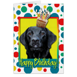 Birthday Cupcake - Labrador - Black - Gage Card