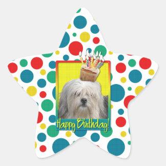 Birthday Cupcake - Lowchen Star Sticker