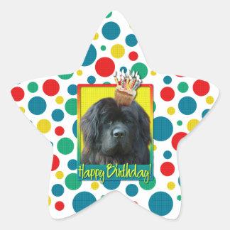 Birthday Cupcake - Newfoundland Star Sticker