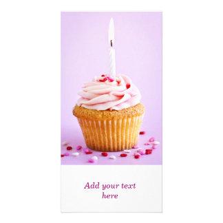 Birthday cupcake photo cards