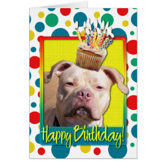 Birthday Cupcake - Pitbull - Jersey Girl Card