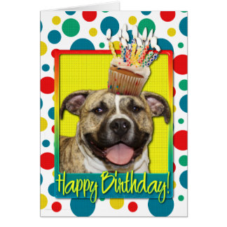 Birthday Cupcake - Pitbull - Tigger Card