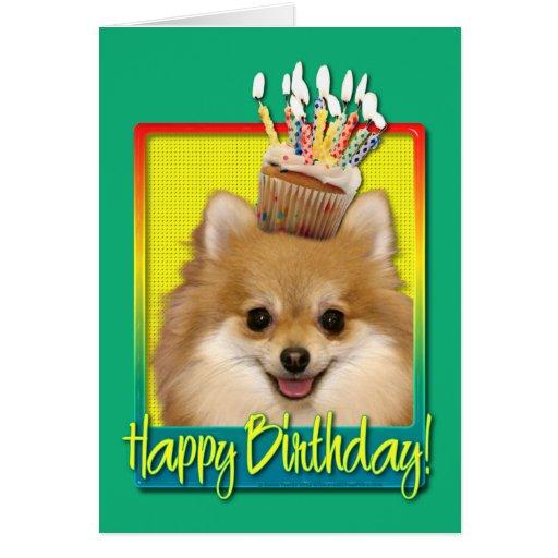 Birthday Cupcake Pomeranian Cards