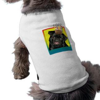 Birthday Cupcake - Pug - Ruffy Sleeveless Dog Shirt
