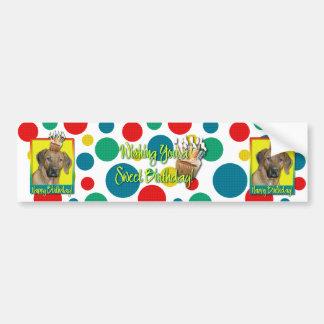 Birthday Cupcake - Rhodesian Ridgeback Bumper Sticker
