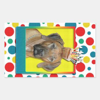 Birthday Cupcake - Rhodesian Ridgeback Rectangular Sticker