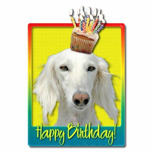 Birthday Cupcake - Saluki Photo Cutout