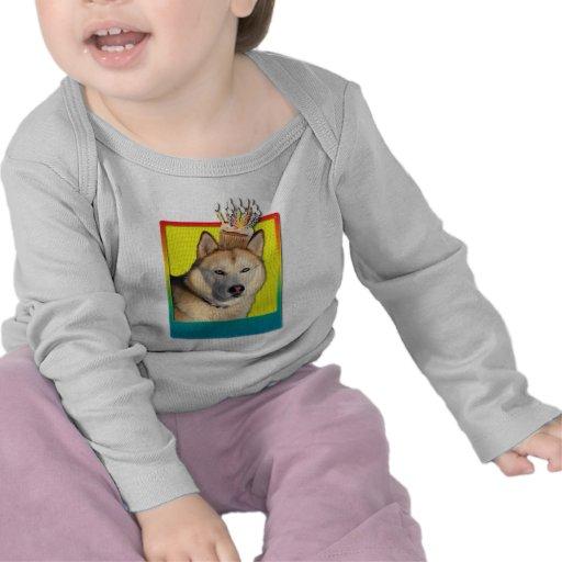 Birthday Cupcake - Siberian Husky - Copper T Shirts