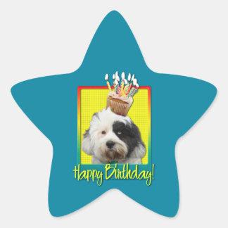 Birthday Cupcake - Tibetan Terrier Star Stickers