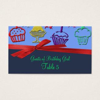 Birthday Cupcake Treat Surprise Table Business Card