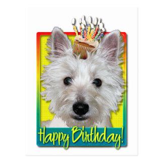 Birthday Cupcake - Westie - Tank Postcard