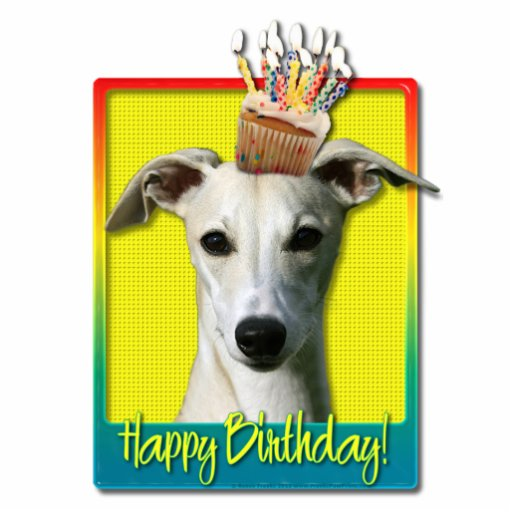 Birthday Cupcake - Whippet Photo Sculptures