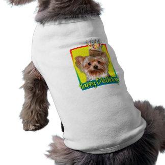 Birthday Cupcake - Yorkshire Terrier Doggie Tee Shirt