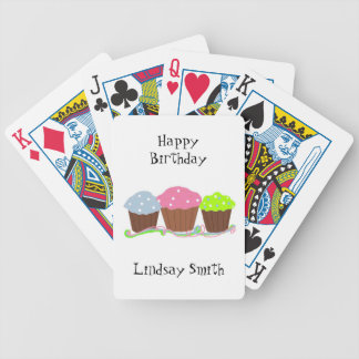 Birthday Cupcakes Bicycle Playing Cards