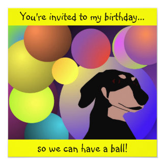 Birthday Dachshund Invitation