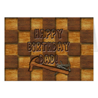 BIRTHDAY - DAD - CARPENTER FIX-IT MAN CARD