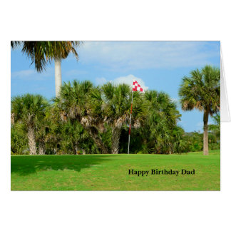 Birthday Dad, Golf Scene Card