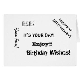 Birthday, Dad, words for a boyfriend. Cards