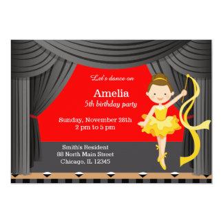 Birthday Dancer 13 Cm X 18 Cm Invitation Card