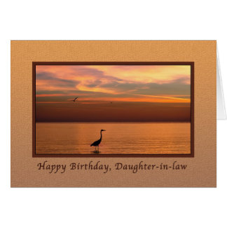 Birthday,  Daughter-in-law, Ocean View at Sunset Greeting Card