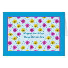 Birthday, Daughter-in-law, Pink and Yellow Daisies Card