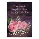 Birthday, daughter-in-law with pink roses card