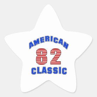 Birthday Design 82 Star Sticker