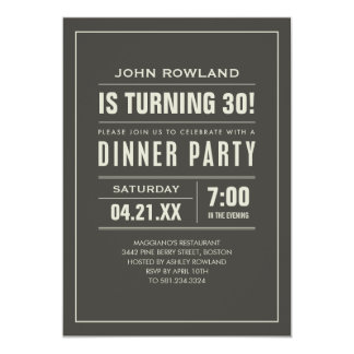 Birthday Dinner Party Invitations