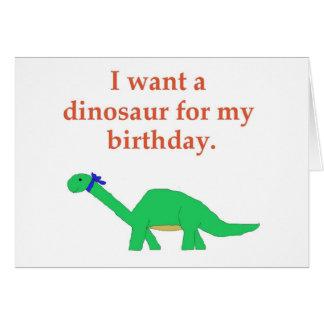 Birthday Dinosaur card