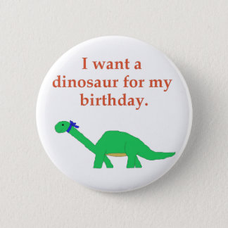 Birthday Dinosaur pin