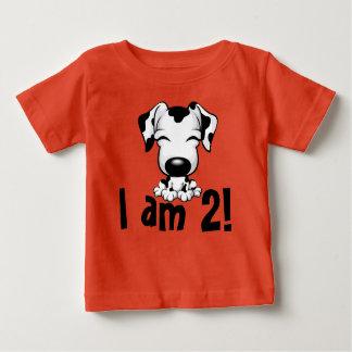 Birthday dog dalmatian T-shirt I am 2!