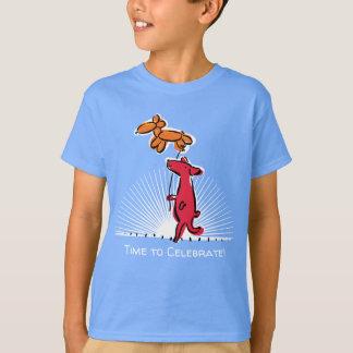 Birthday Dog with Balloon Animal T-Shirt